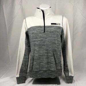 PINK Gray White Lightweight Performance Jacket Top